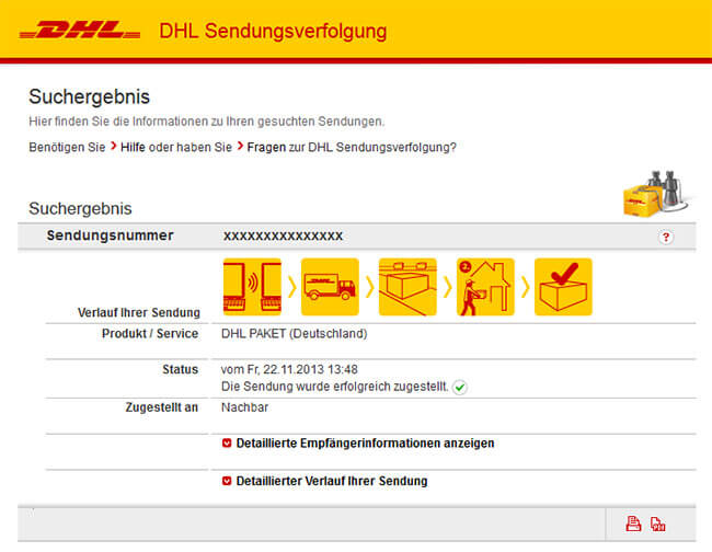 dhl sendungsverfolgung paket tracking online. Black Bedroom Furniture Sets. Home Design Ideas