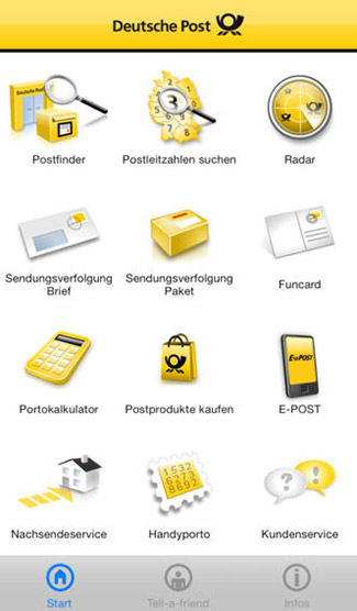 deutsche post mobile app