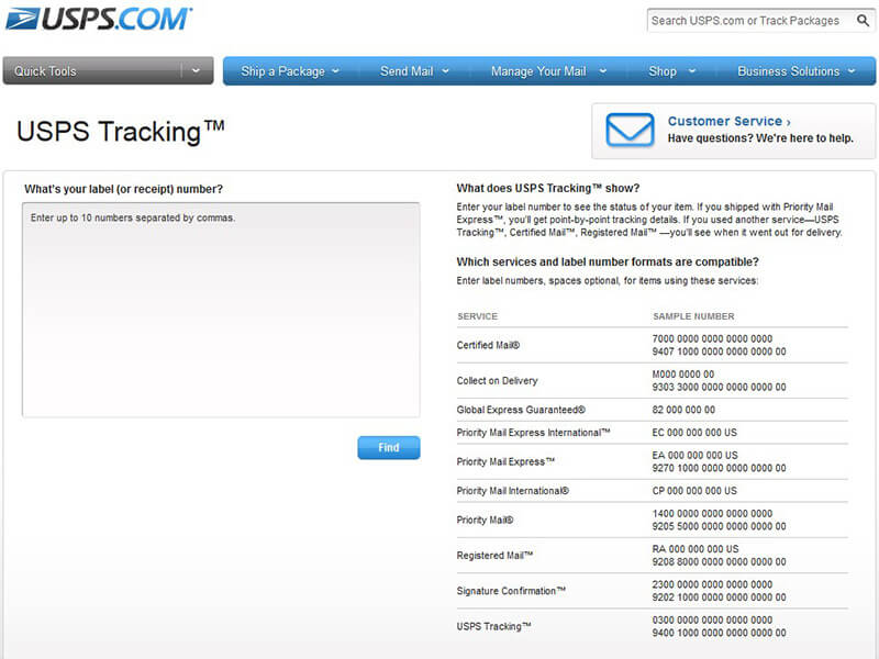 usps tracking sendungsverfolgung paketverfolgung. Black Bedroom Furniture Sets. Home Design Ideas