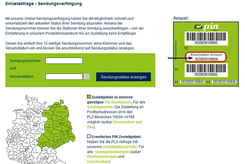 Pin Mail Ag Sendungsverfolgung Unternehmen Paketnet